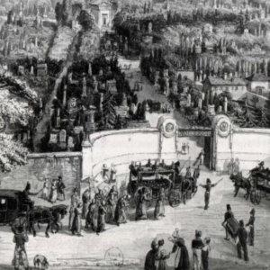 Hémicycle d'entrée du cimetière du Père Lachaise, Paris XX
