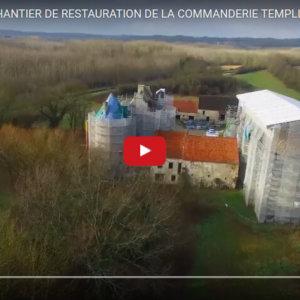 JANVIER 2017 #2# survol du chantier de la commanderie templière de Moisy à Montigny-l'Allier
